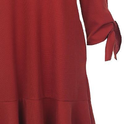 ruffle detail ribbon point dress